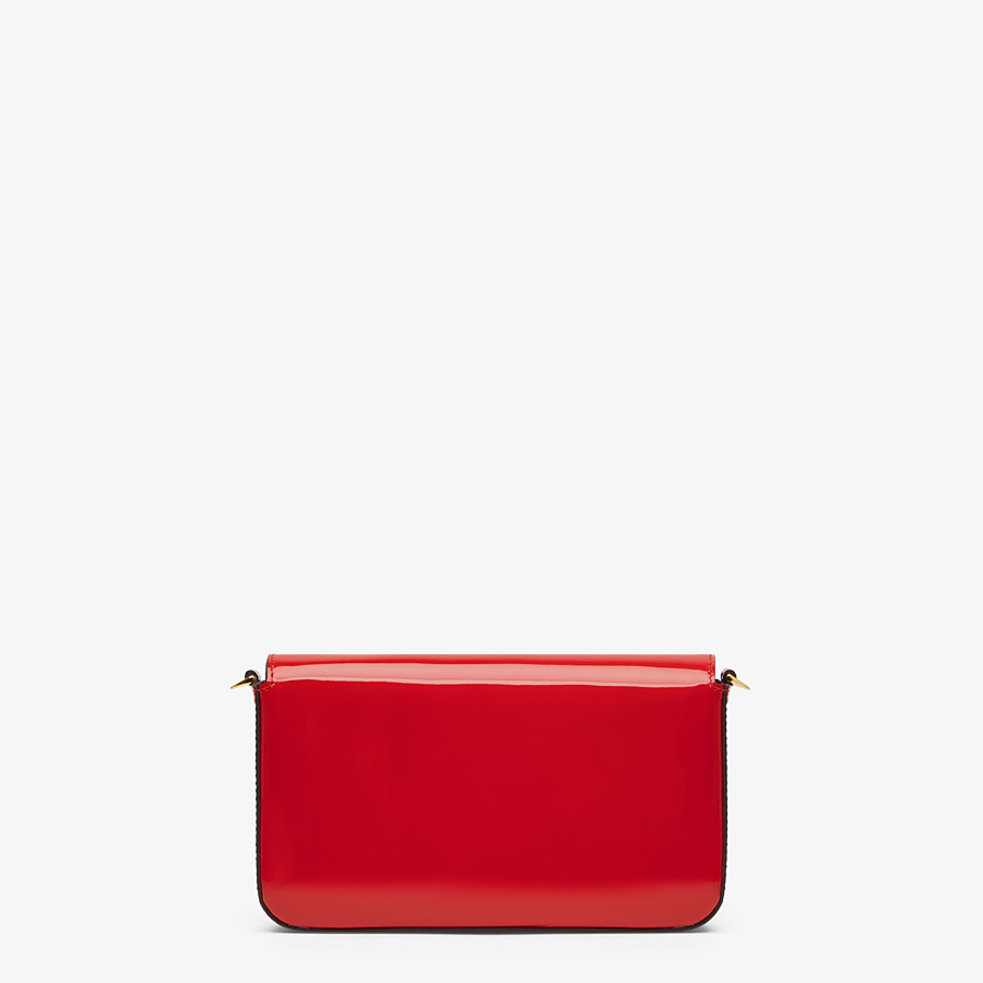 FENDI WALLET ON CHAIN WITH POUCHES - Mini bag in red patent leather - view 4 detail