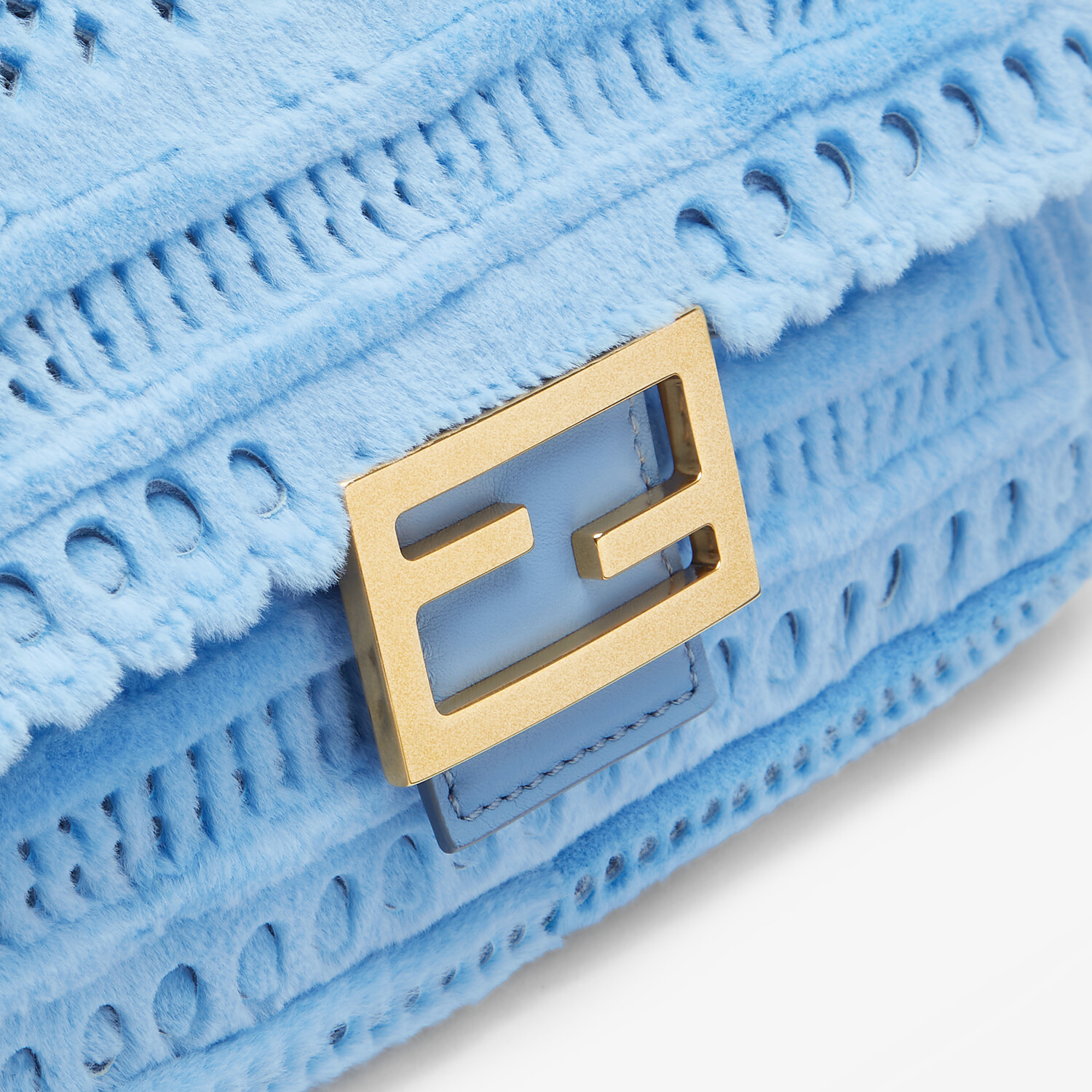 FENDI BAGUETTE - Blue mink bag - view 5 detail