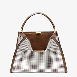 FENDI PEEKABOO X-LITE LARGE - White leather bag - view 3 thumbnail