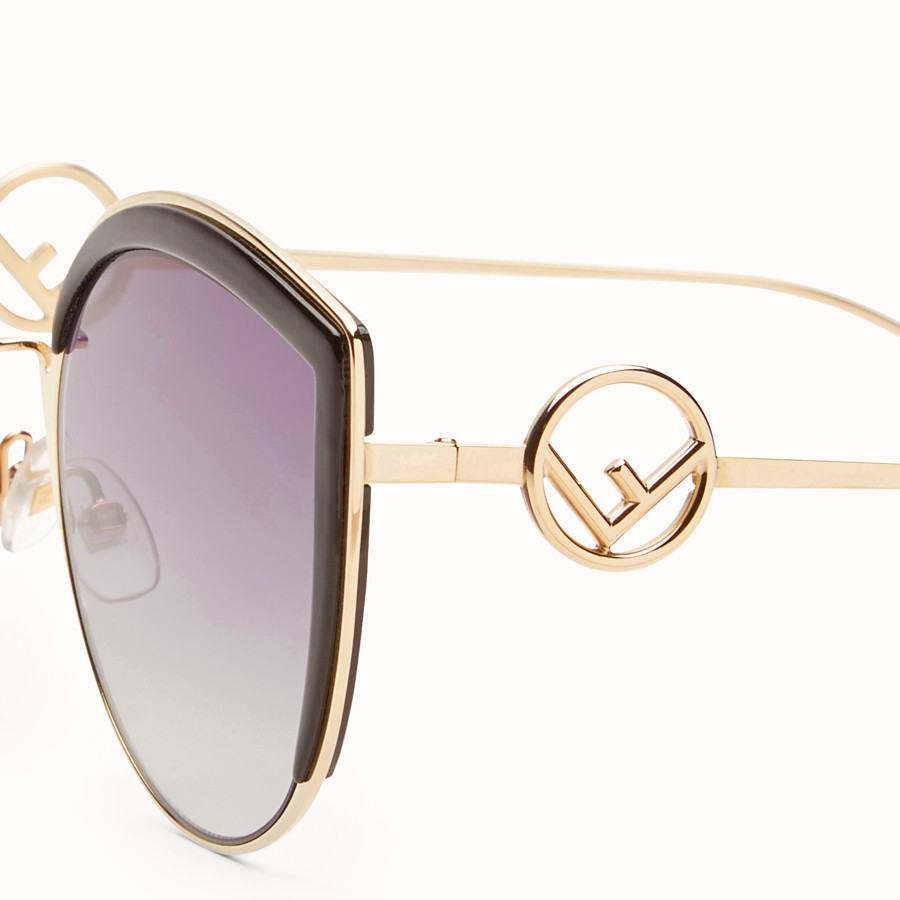 FENDI F IS FENDI - Gold-colour sunglasses - view 3 detail
