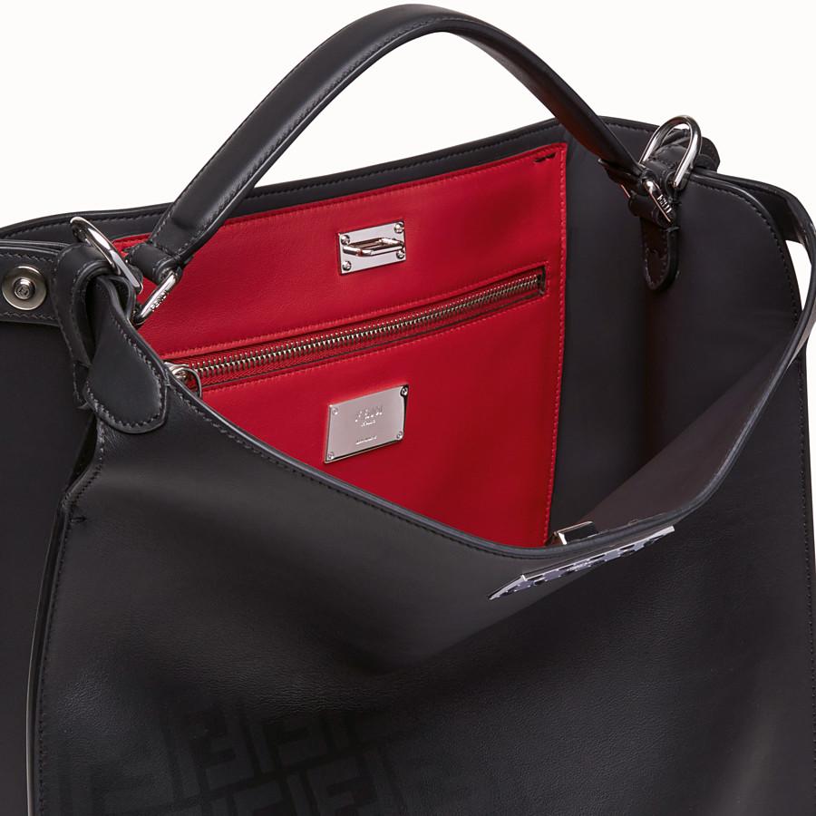 FENDI PEEKABOO X-LITE FIT - Black, calf leather bag - view 6 detail
