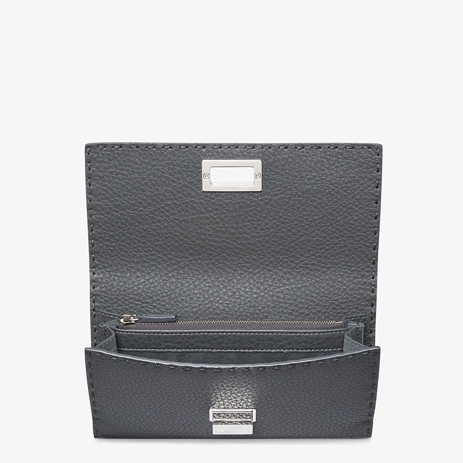 FENDI CONTINENTAL - Grey leather wallet - view 4 detail