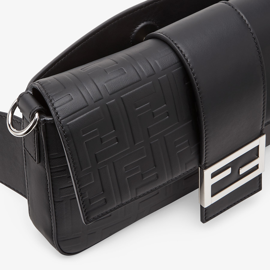 FENDI BAGUETTE - Black, calf leather bag - view 6 detail