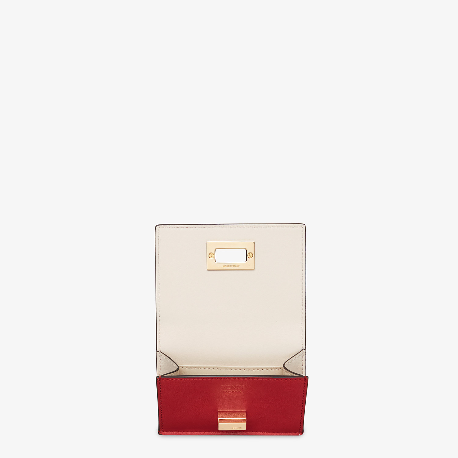 FENDI MICRO TRIFOLD - Red leather wallet - view 3 detail