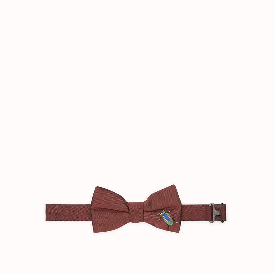 FENDI BOW TIE - Burgundy silk bow tie - view 1 detail