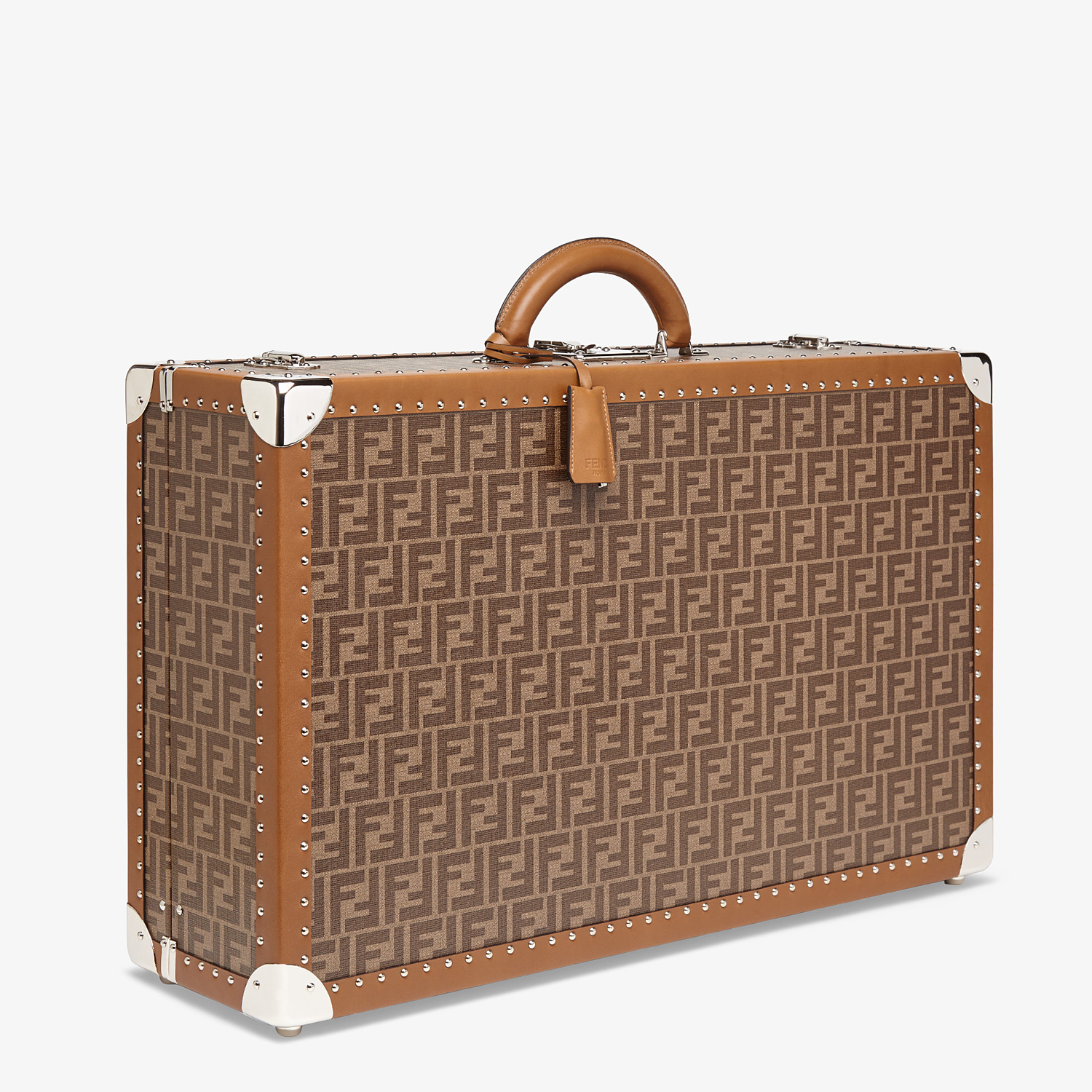 FENDI RIGID SUITCASE LARGE - Brown fabric suitcase - view 2 detail