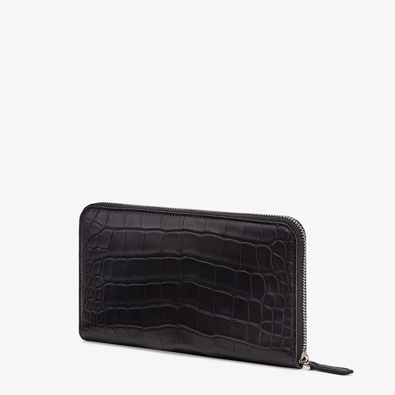 FENDI CONTINENTAL - Black alligator wallet - view 2 detail