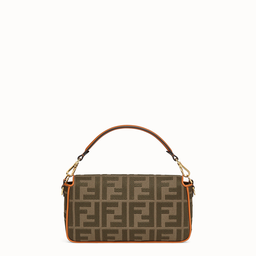FENDI BAGUETTE - Green canvas bag - view 4 detail