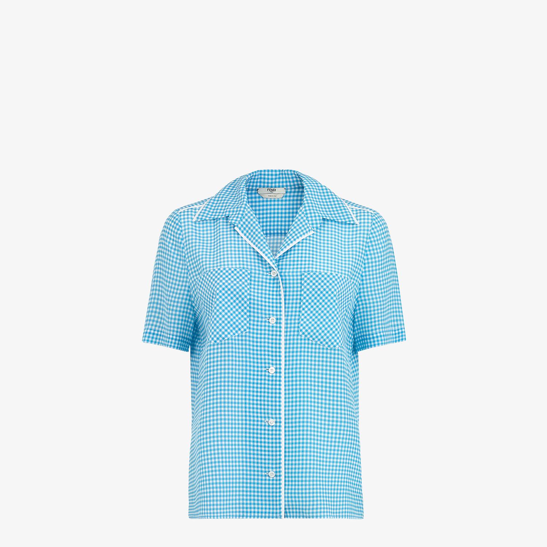 FENDI SHIRT - Check silk shirt - view 1 detail