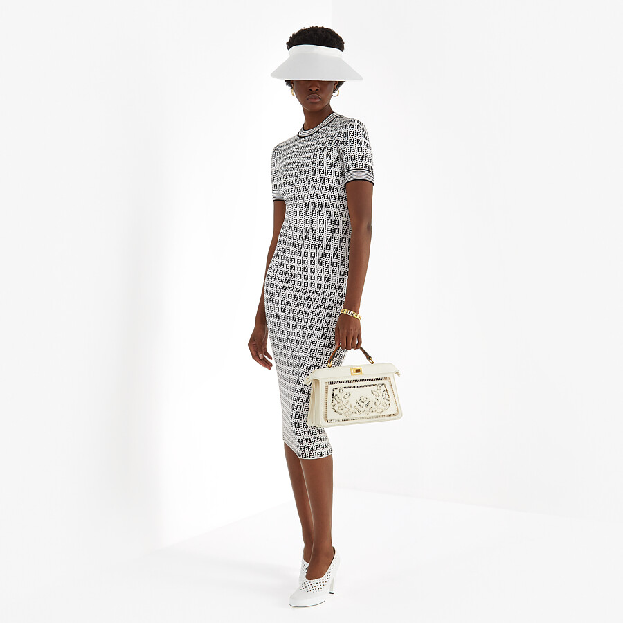 FENDI DRESS - White viscose dress - view 4 detail