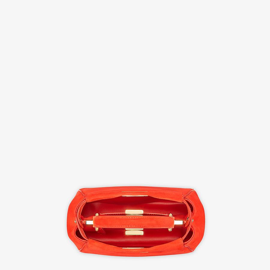 FENDI PEEKABOO ICONIC XS - Minibag in suede rosso - vista 5 dettaglio