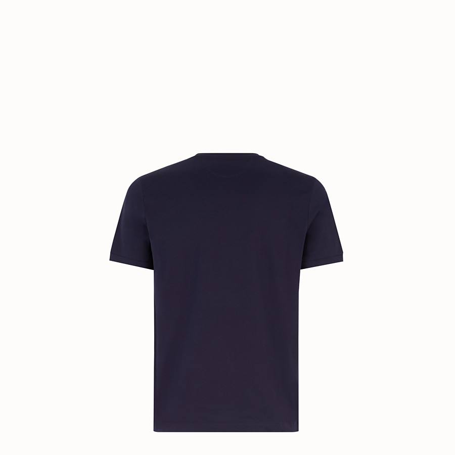 FENDI T-SHIRT - Dark blue jersey T-shirt - view 2 detail