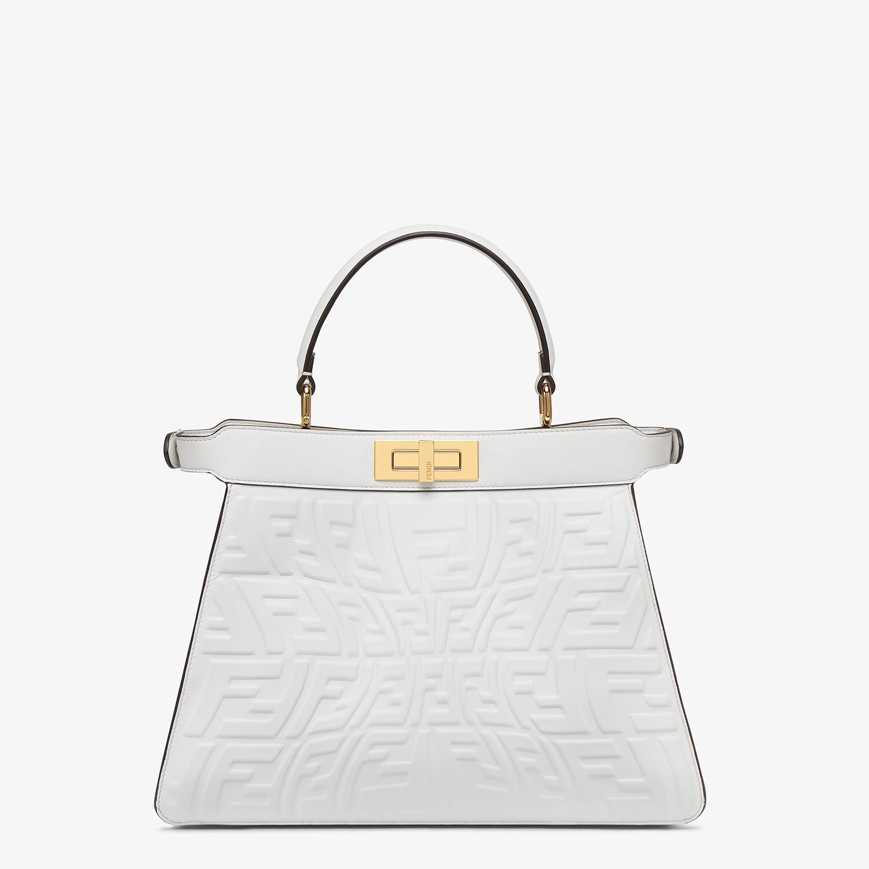 FENDI PEEKABOO ISEEU MEDIUM - White nappa leather bag with a glow in the dark FF - view 5 detail