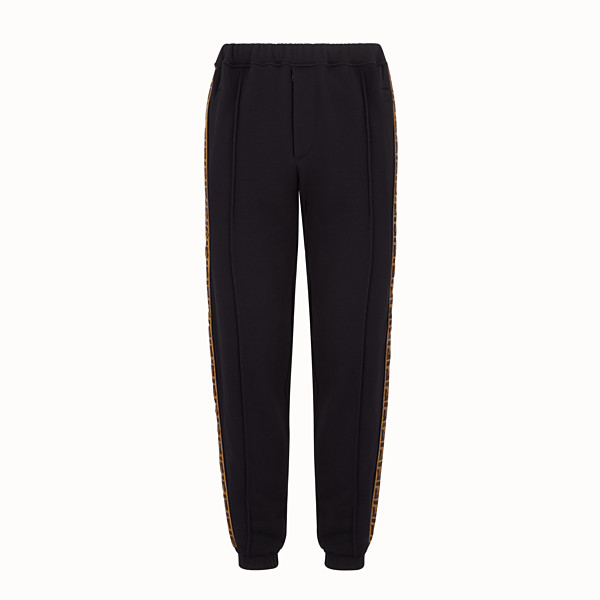 FENDI PANTS - Black jersey pants - view 1 small thumbnail
