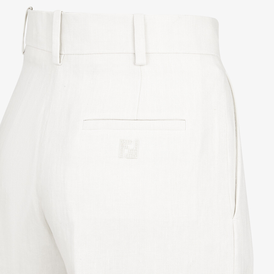 FENDI PANTS - White linen pants - view 3 detail