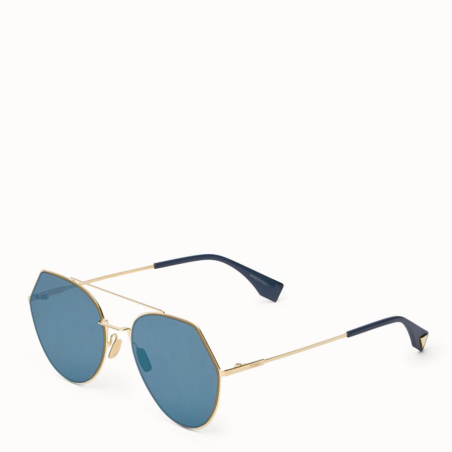 FENDI EYELINE - Gold-coloured sunglasses - view 2 detail