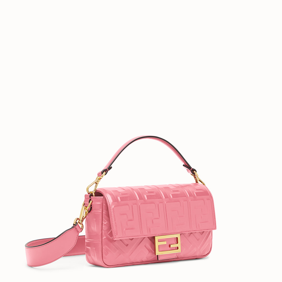 FENDI BAGUETTE - Pink leather bag - view 2 detail
