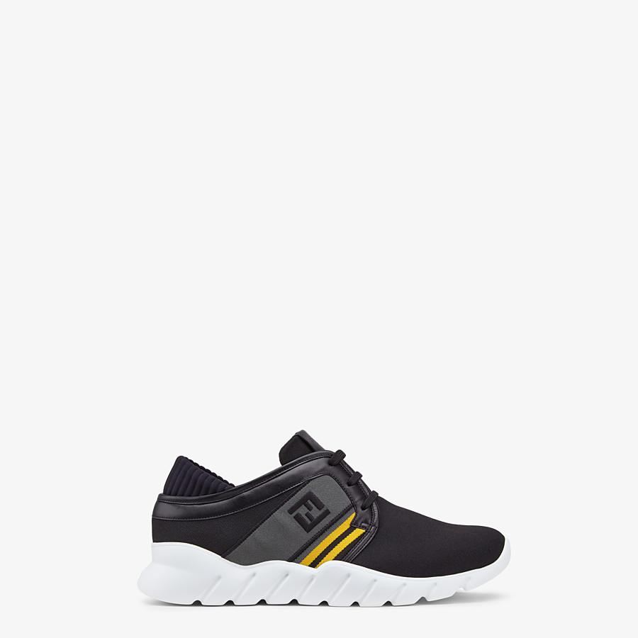 FENDI SNEAKERS - Black tech fabric sneakers - view 1 detail