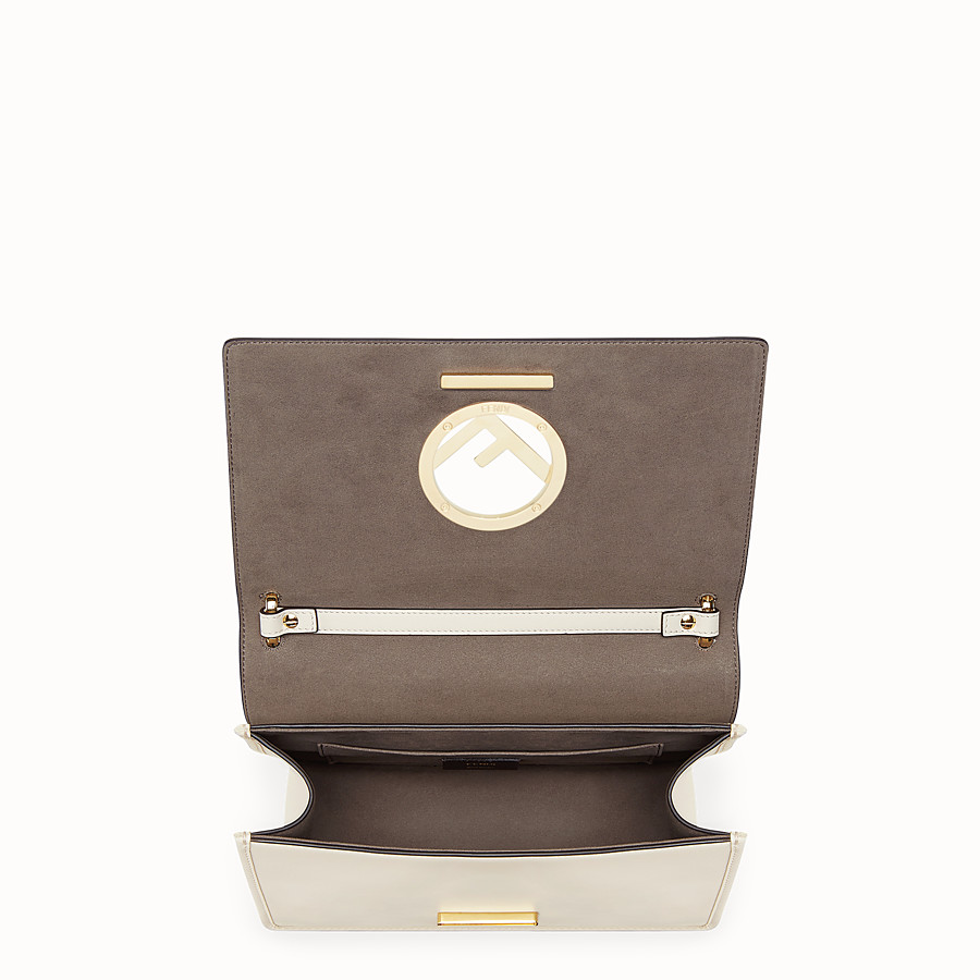 FENDI KAN I F - White leather bag - view 4 detail