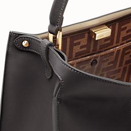 FENDI PEEKABOO X-LITE MEDIUM - Black leather bag - view 6 thumbnail