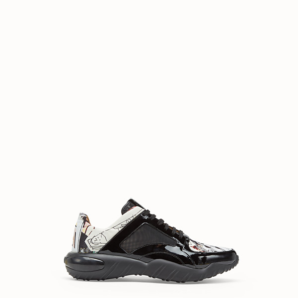 FENDI SNEAKERS - Multicolour fabric low top - view 1 small thumbnail