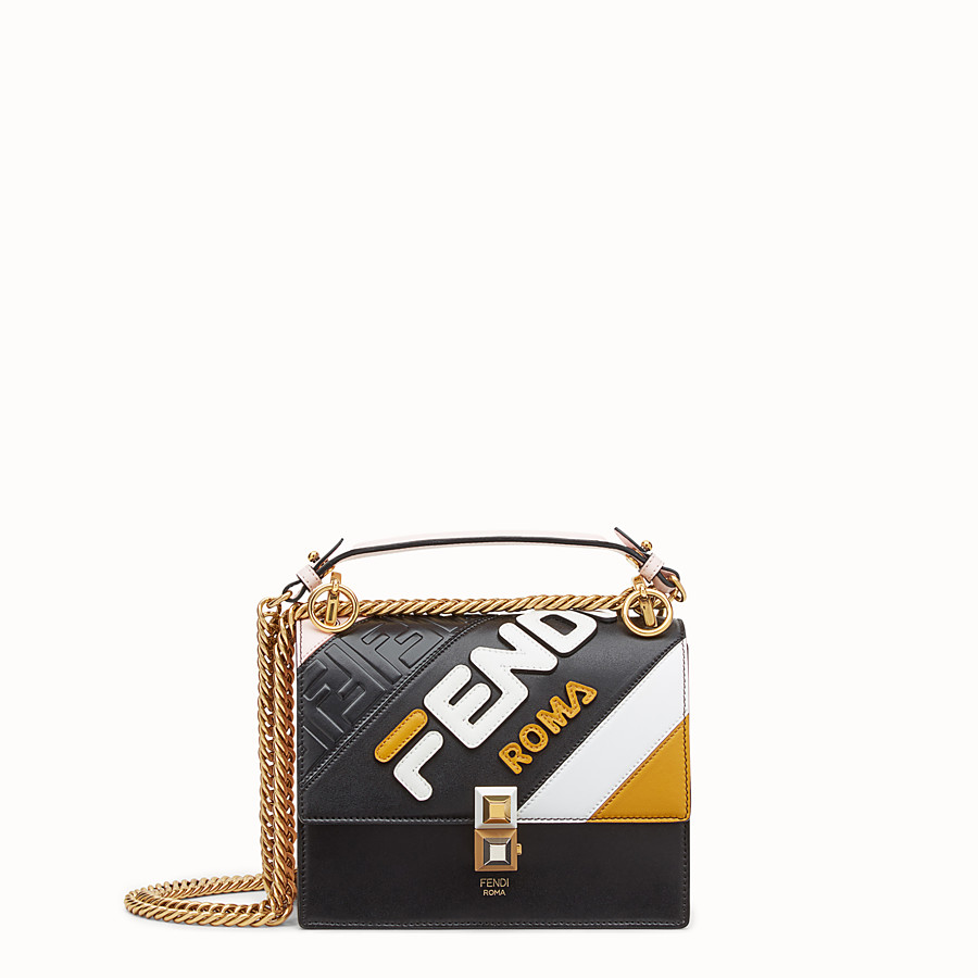 FENDI KAN I SMALL - Multicolour leather minibag - view 1 detail