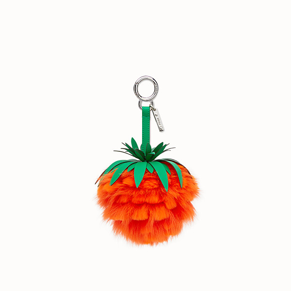 FENDI FENDI FRUITS CHARM - Charm in orange fox fur - view 1 small thumbnail
