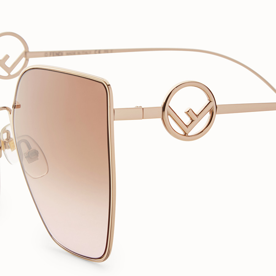 FENDI F IS FENDI - Gold-coloured sunglasses - view 3 detail