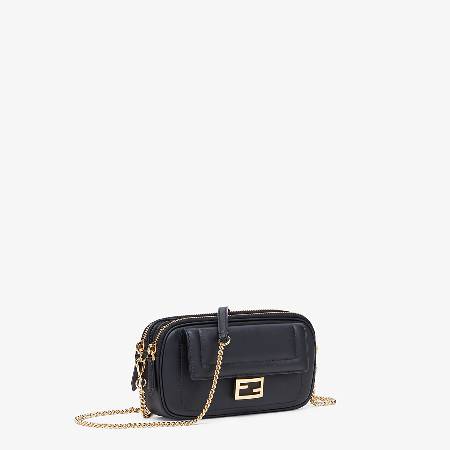 FENDI EASY 2 BAGUETTE - Black leather mini-bag - view 3 detail