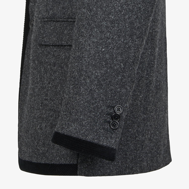 FENDI JACKET - Gray wool blazer - view 4 detail