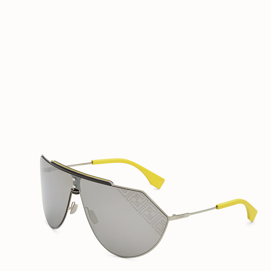 FENDI EYELINE 2.0 - Yellow and ruthenium sunglasses - view 2 detail