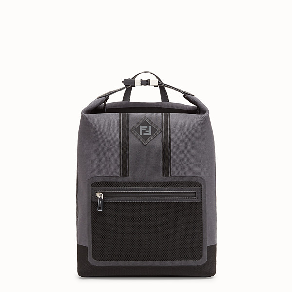 FENDI BACKPACK - Grey tech knit backpack - view 1 small thumbnail