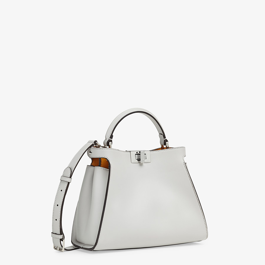 FENDI PEEKABOO ICONIC ESSENTIALLY - Gray leather bag - view 3 detail