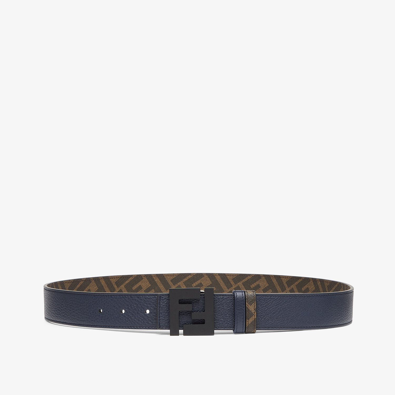 FENDI BELT - Blue leather belt - view 1 detail