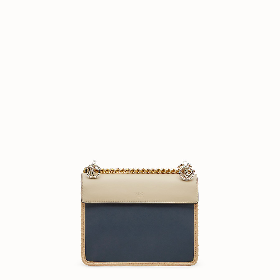FENDI KAN I F SMALL - Beige leather mini-bag with exotic details - view 3 detail