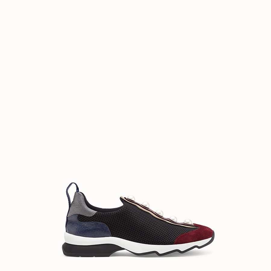 FENDI SNEAKERS - Sneakers in black technical mesh - view 1 detail