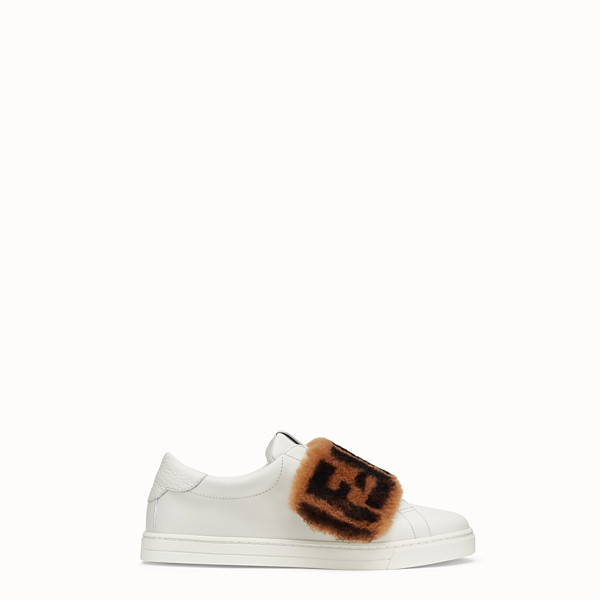 FENDI SNEAKER - Slip-on aus Leder in Weiß - view 1 small thumbnail