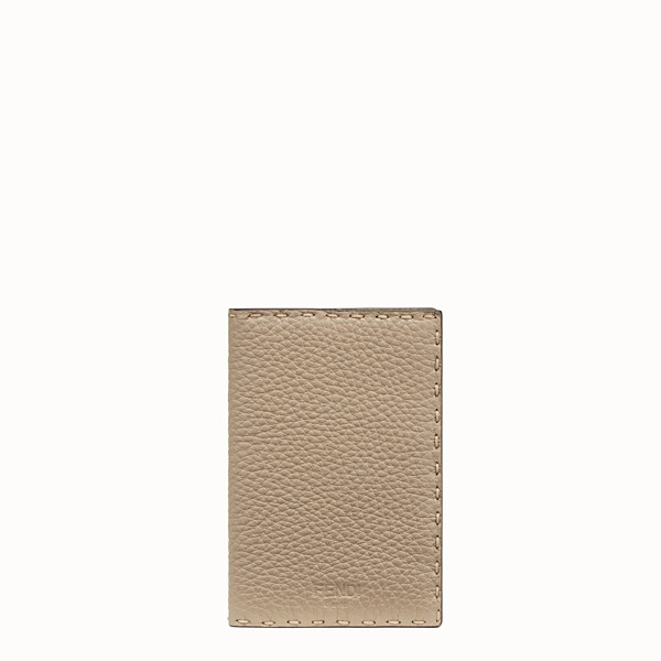 FENDI PASSPORT COVER - Beige leather passport cover - view 1 small thumbnail
