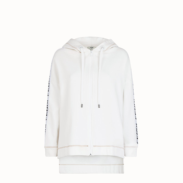 FENDI SWEATSHIRT - White jersey sweatshirt - view 1 small thumbnail