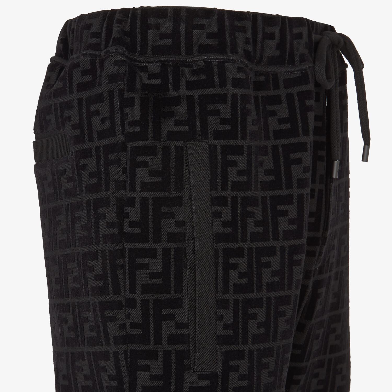 FENDI PANTS - Black piqué pants - view 3 detail