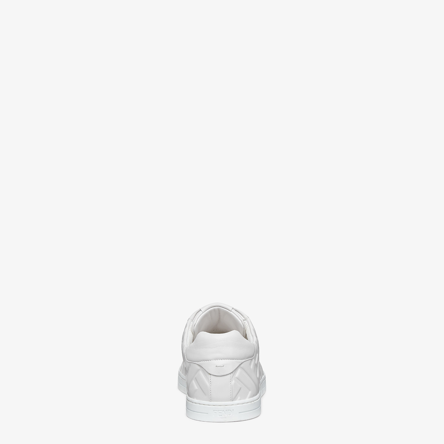 FENDI SNEAKERS - White nappa leather low-tops - view 3 detail