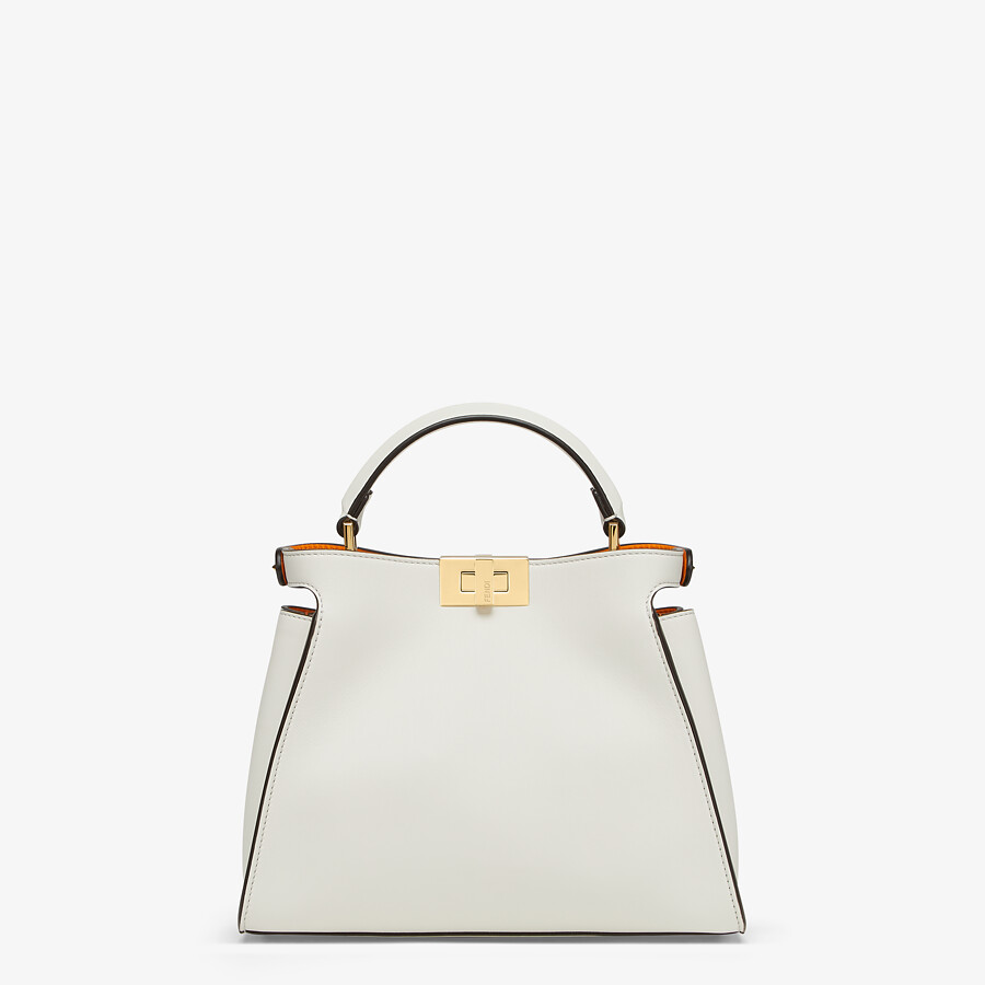 FENDI PEEKABOO ICONIC ESSENTIALLY - White leather bag - view 3 detail