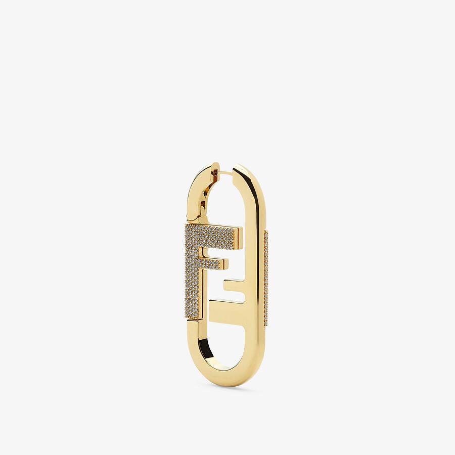 FENDI O'LOCK SINGLE EARRING - Gold-color earrings - view 1 detail