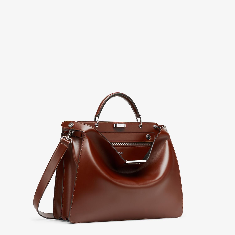 FENDI PEEKABOO ISEEU MEDIUM - Brown leather bag - view 3 detail