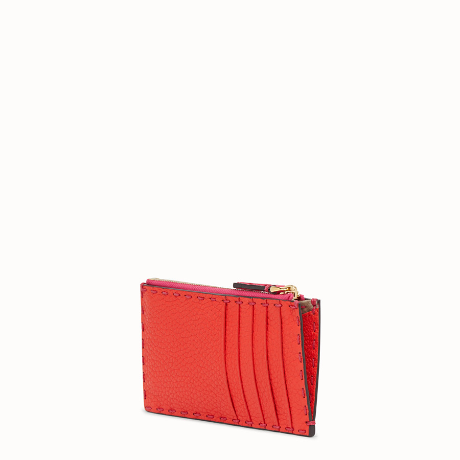 FENDI CARD POUCH - Fendi Roma Amor leather pouch - view 2 detail