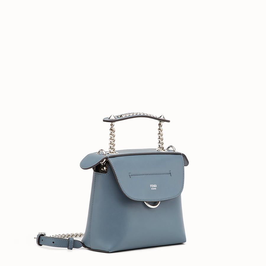 FENDI 迷你款式BACK TO SCHOOL背包 - 小型款藍色皮革背包 - view 2 detail