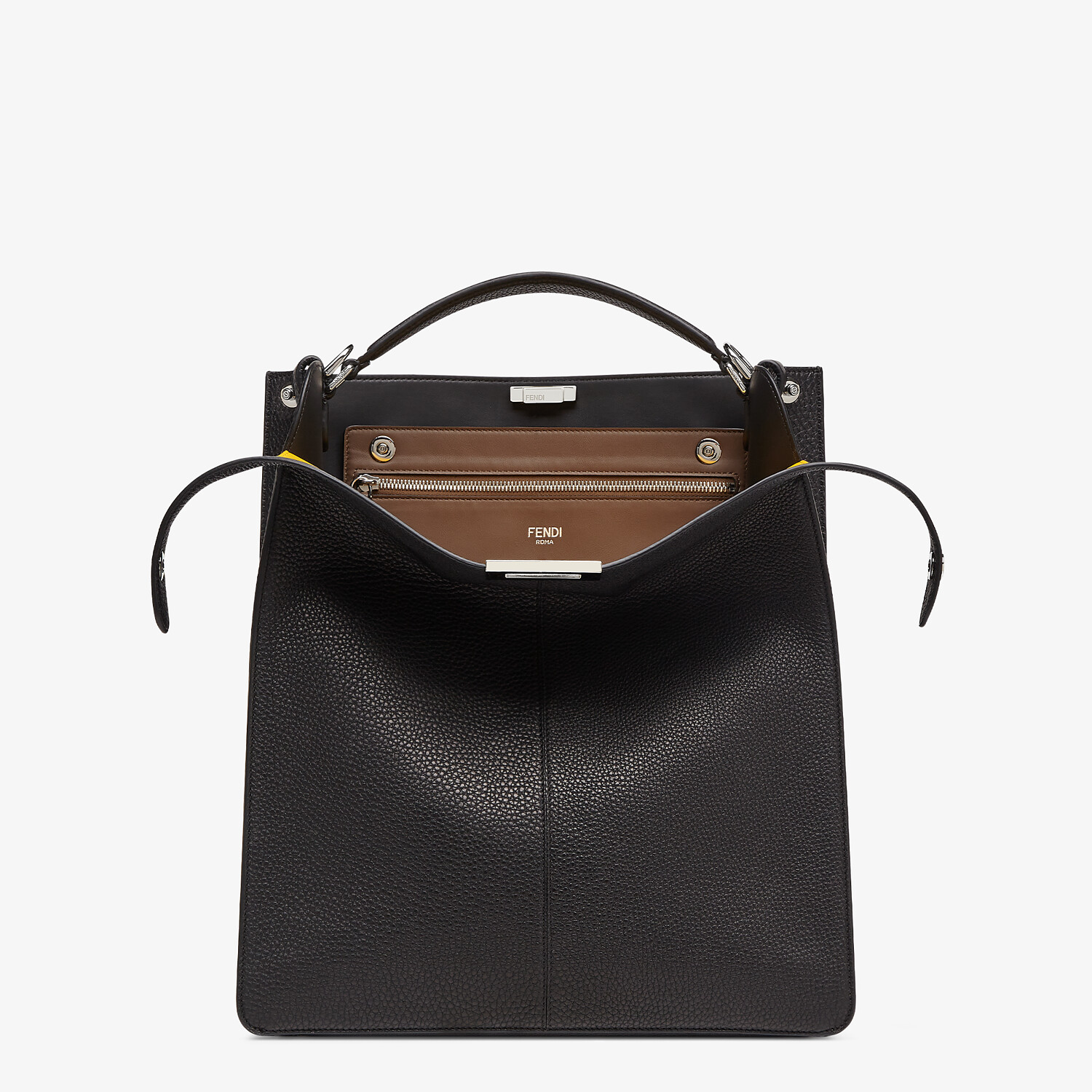 FENDI PEEKABOO ISEEU TOTE - Black leather bag - view 1 detail