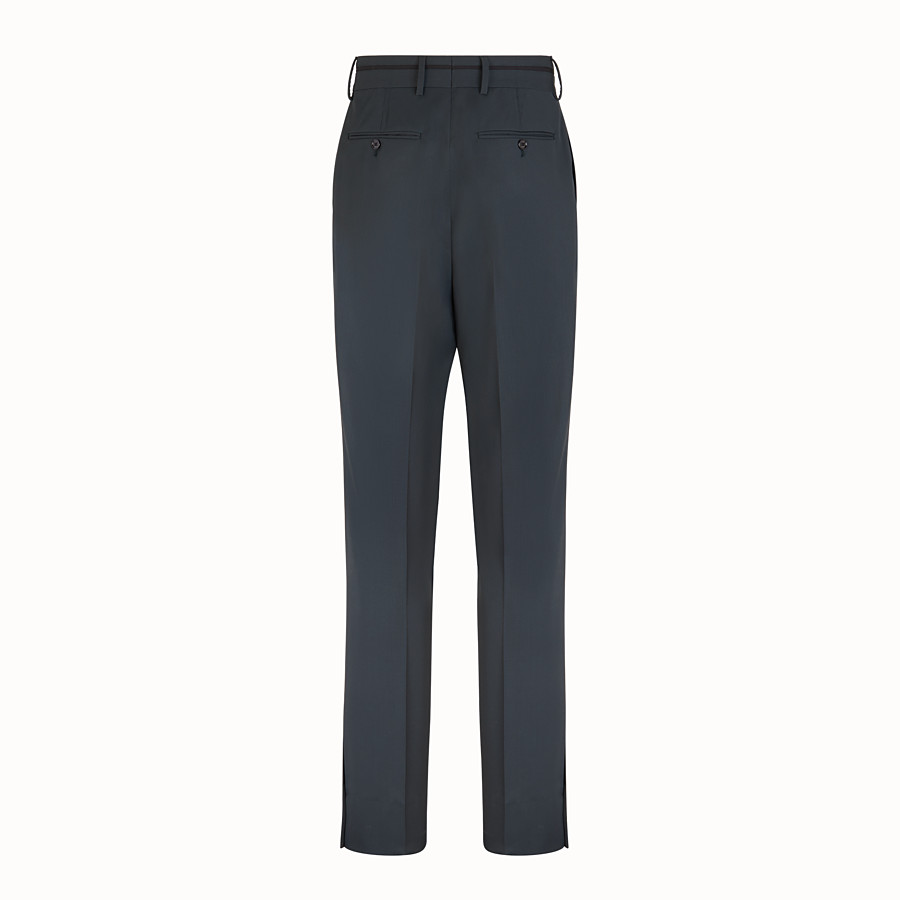 FENDI TROUSERS - Grey twill trousers - view 2 detail