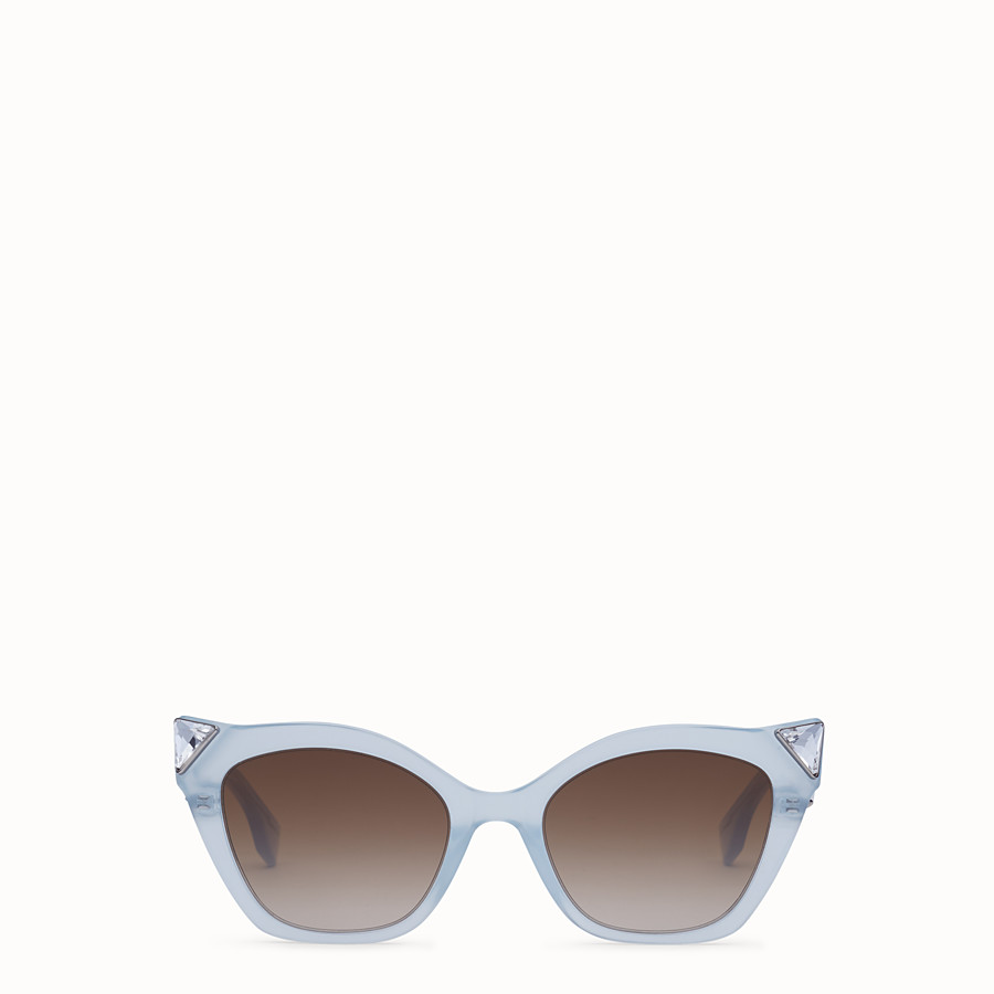 FENDI IRIDIA - Blue and opal blue sunglasses - view 1 detail