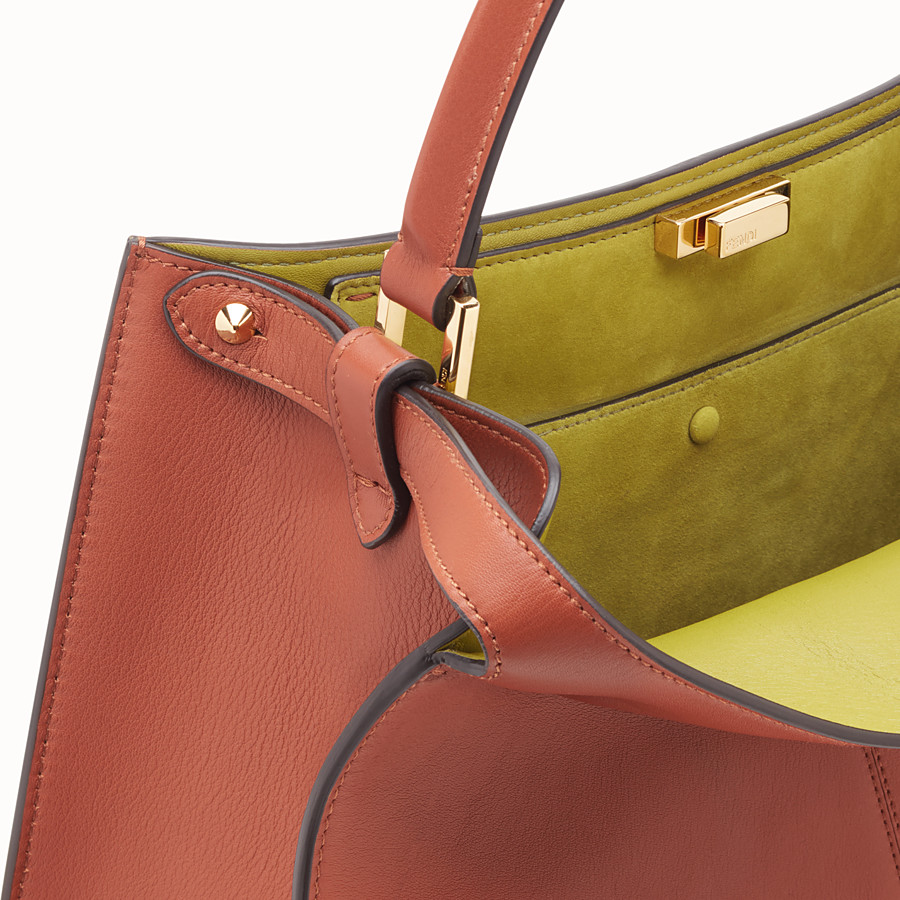FENDI PEEKABOO X-LITE LARGE - Red leather bag - view 7 detail